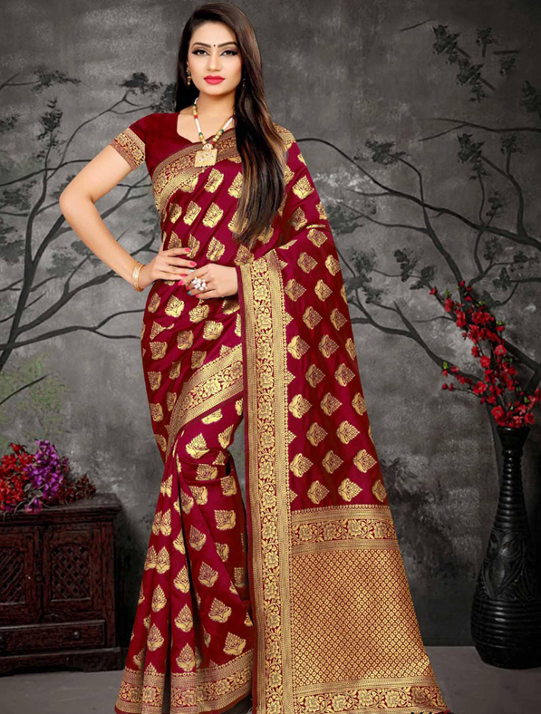Cotton Silk Traditional Fancy Saree