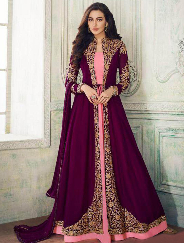 Heavy Embroidered Abaya Style Anarkali