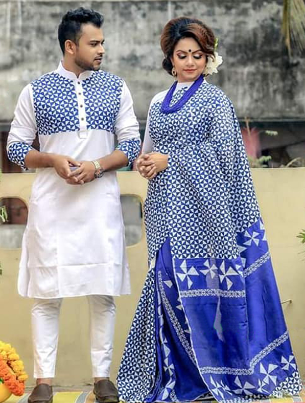 Special Block Printed Designer Couple Set