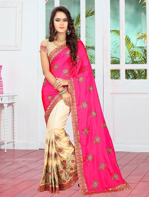 Art Silk Designer Embroidered Saree