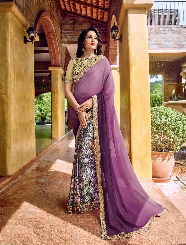 Georgette Designer Digital Print Saree