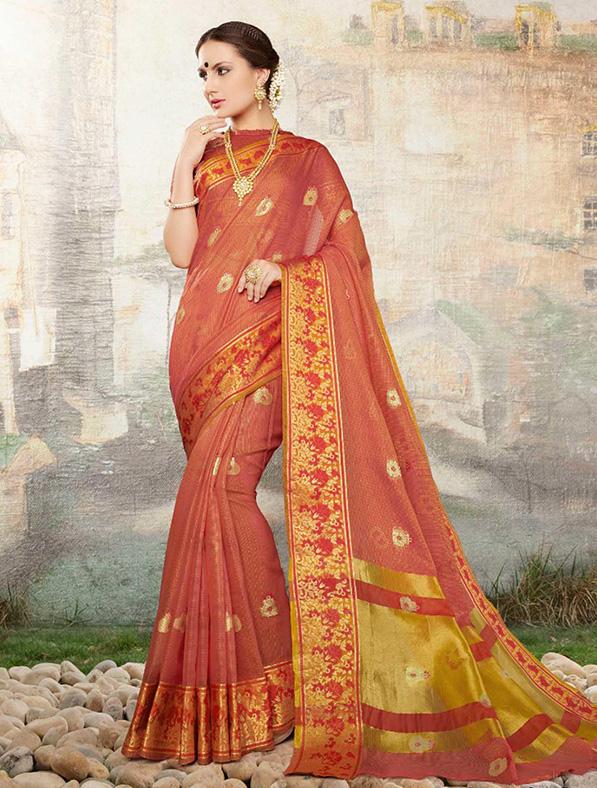 Cotton Silk Designer Saree