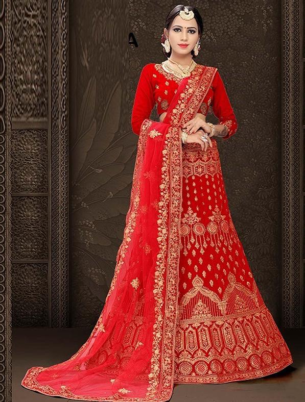 Heavy Velvet Bridal Designer Lehenga