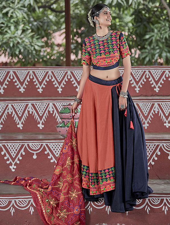 Cotton Hand Work Designer Lehenga