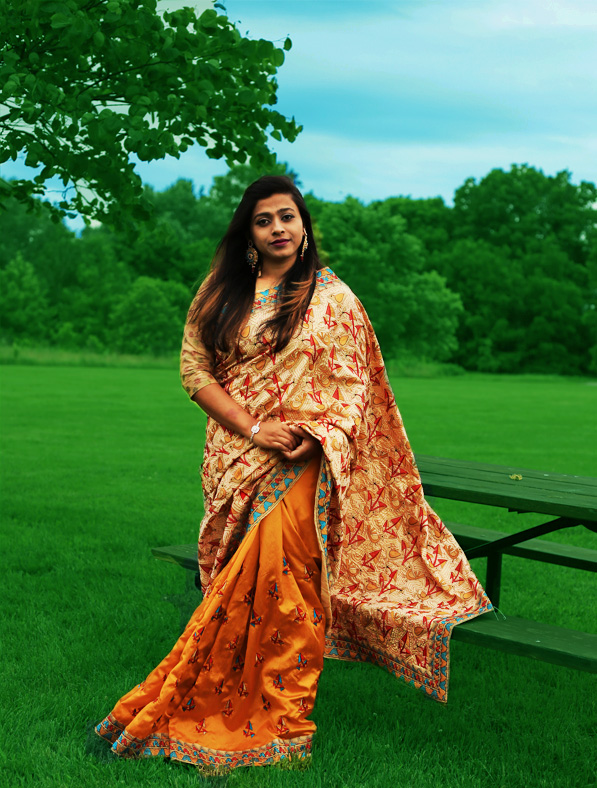 Mulberry Silk Designer Saree