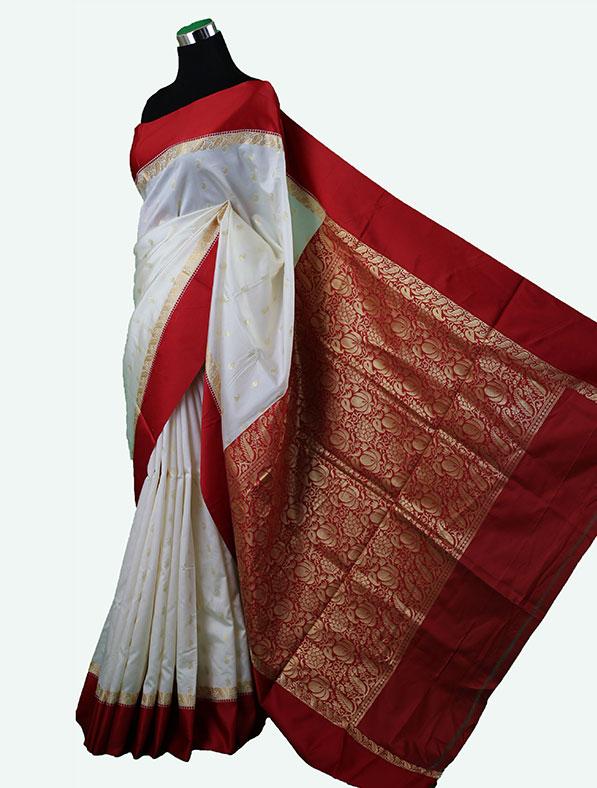 Designer Half Silk Saree