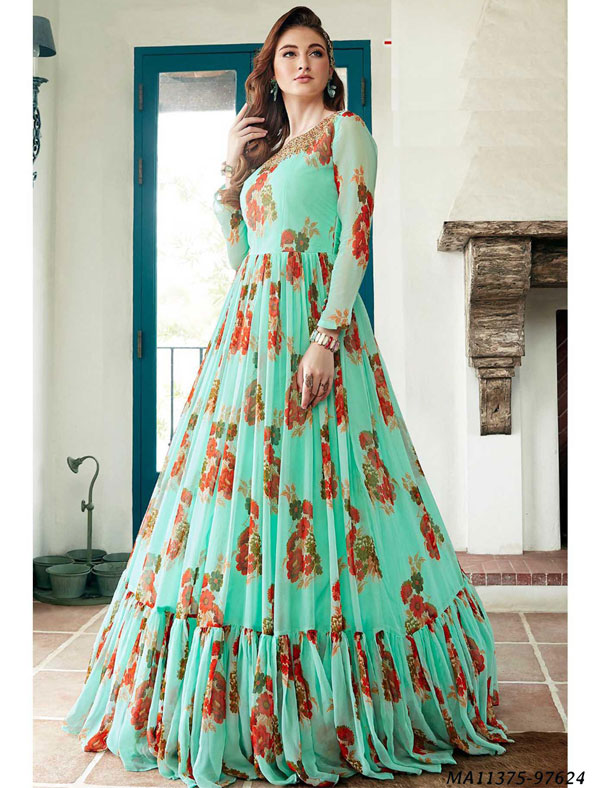 Designer Fancy Multi Color Gown