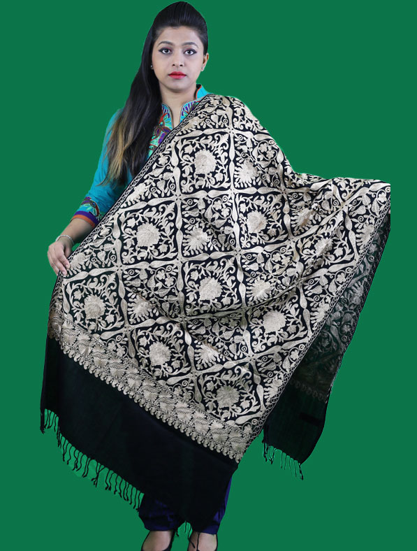 Kasmir Shawl in Black Color
