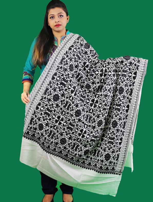 Kasmir Shawl in White Color