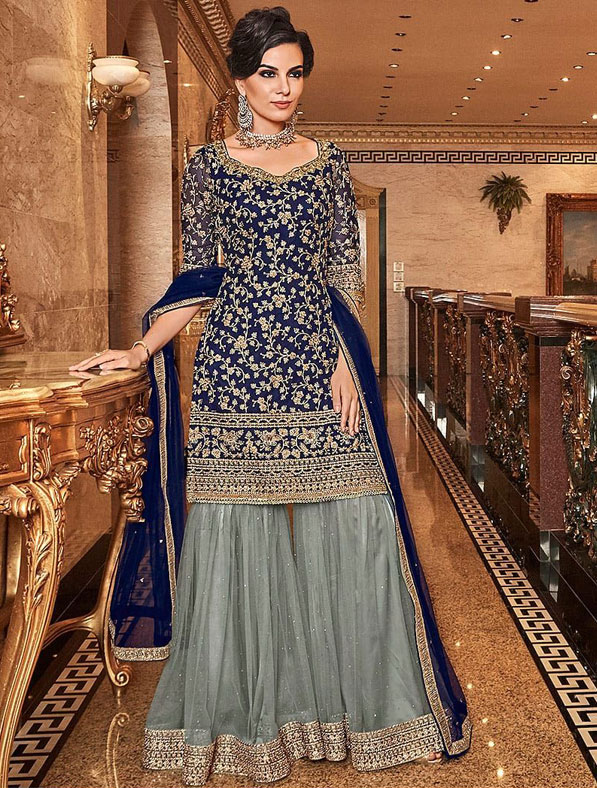 Designer Party Wear Sharara Salwar Suit