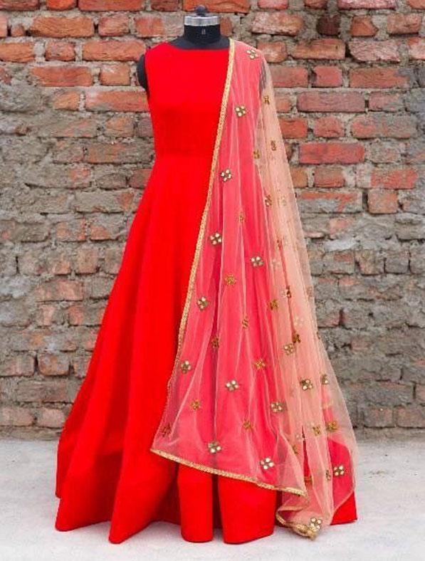 Silk Indo Western Dress