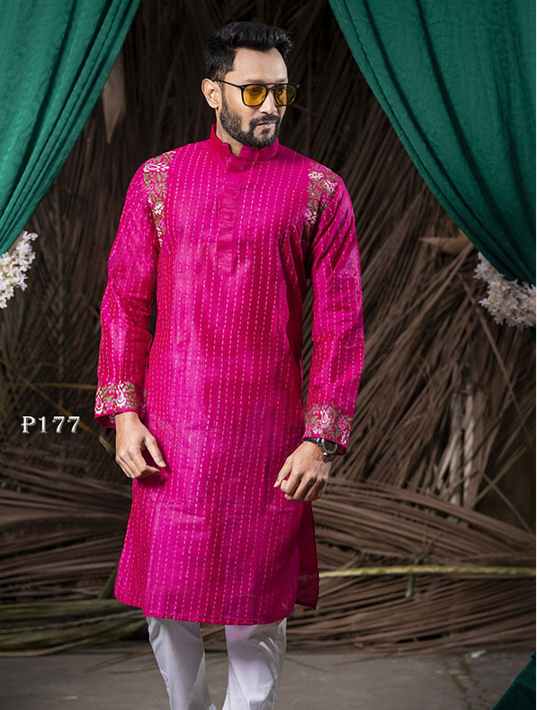 Special Block Printed Designer Panjabi