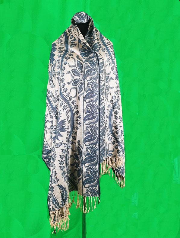 Cotton Shawl in Grey Color
