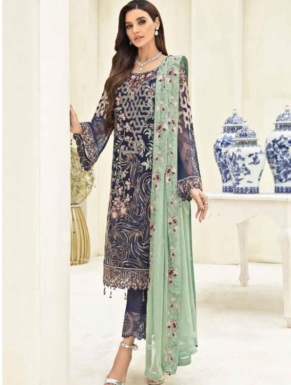 Embroidered New Shalwar Kameez Suit
