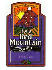FREE Kona Red Mountain Coffee.
