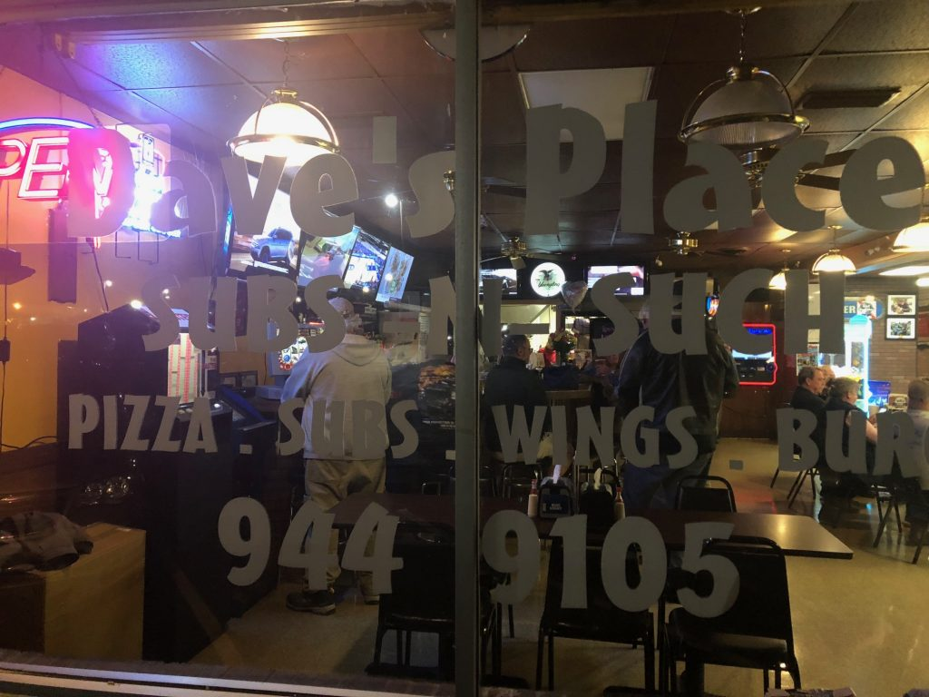 Dave's Place - pizza, subs, wings, cold beer