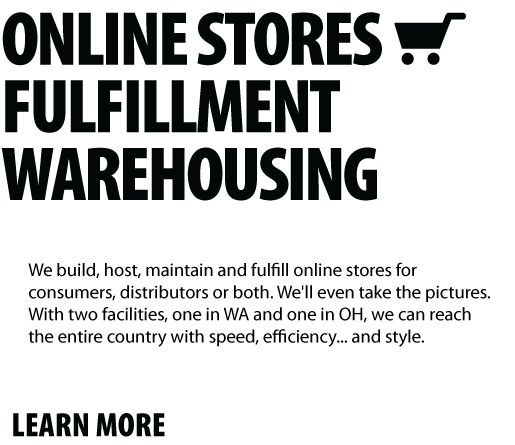Online stores fulfillment warehousing text