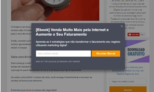 CTA Ignição - Klickpages