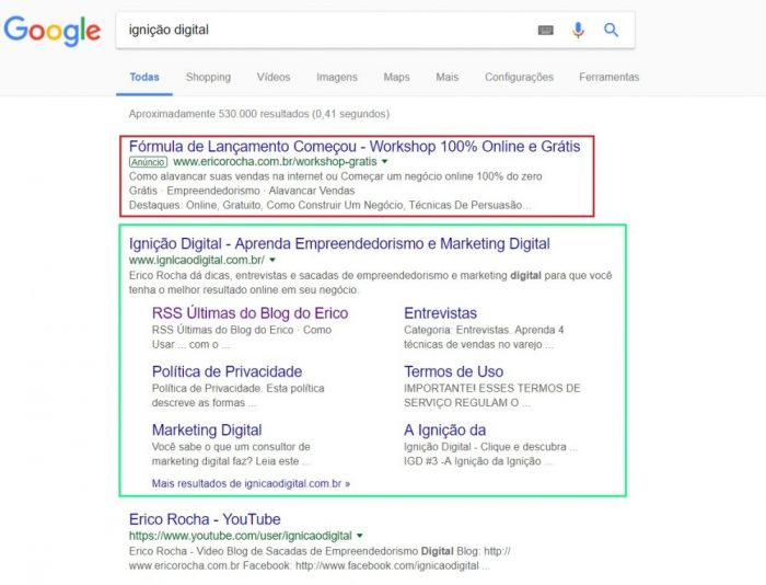 Links patrocinados e SEO