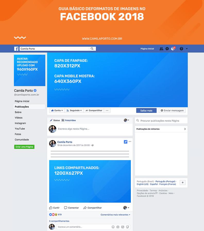 Conhecido Tamanho de post no Facebook: medidas exatas de textos, capa e  LM91