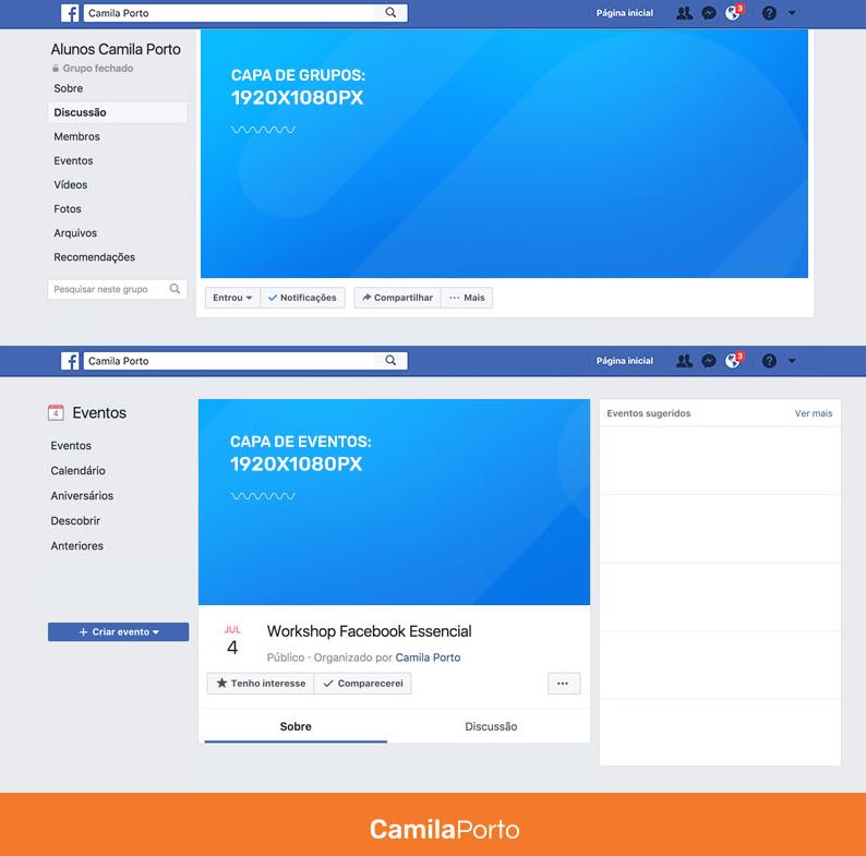 Muitas vezes Tamanho de post no Facebook: medidas exatas de textos, capa e  RO61