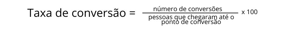 Fórmula da taxa de conversão
