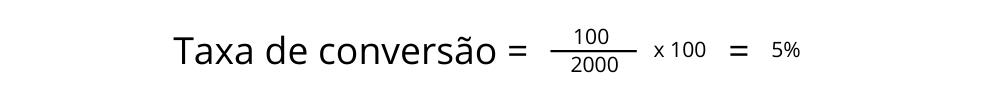 Exemplo 1 de taxa de conversão