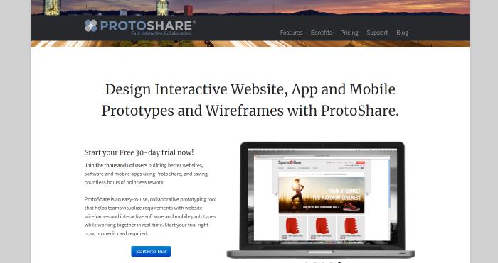 PhotoShare wireframe