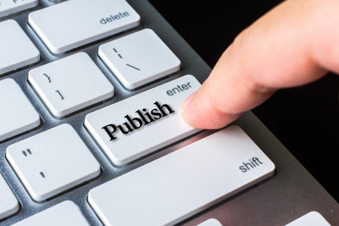 Gestão de conteúdo Hora de publicar