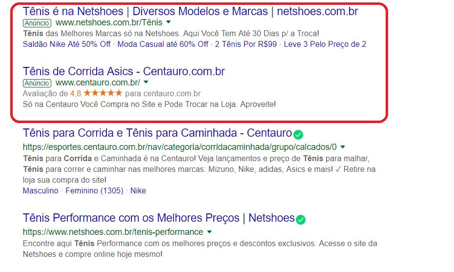 Tráfego Pago Anúncios Google Adwords