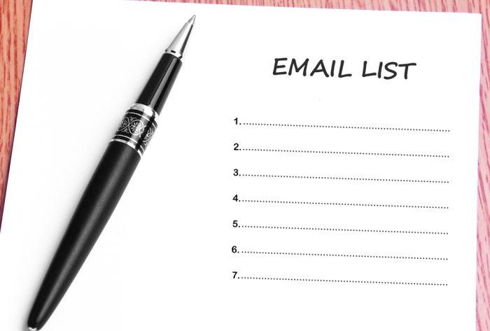 Como criar uma lista de emails Mais de uma lista de e-mail