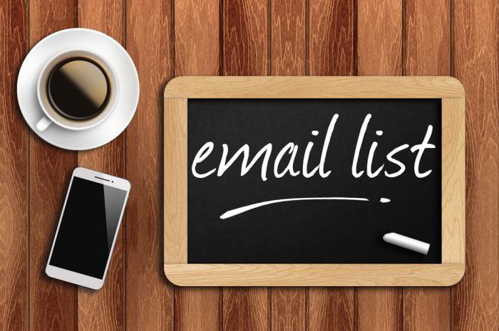 como criar uma lista de e-mail na prática