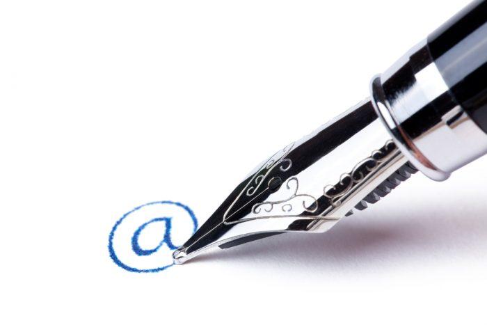 O que é uma assinatura de e-mail?