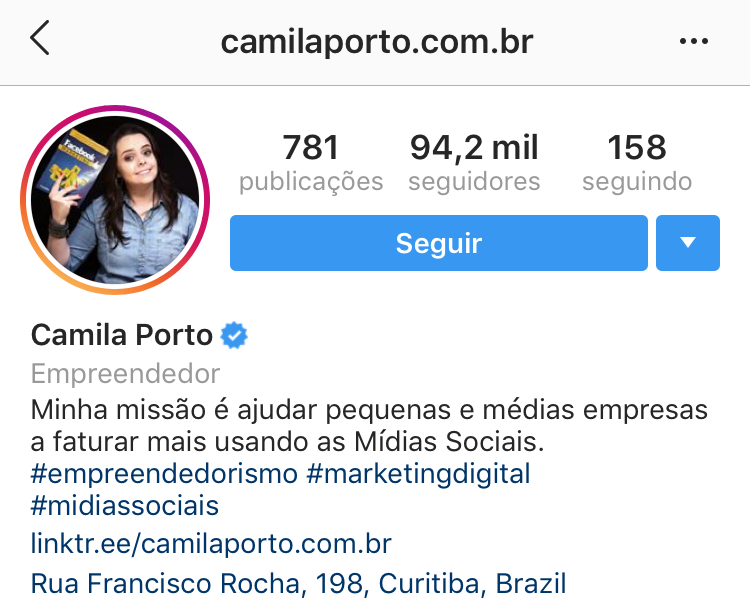 Sem blá blá blá Camila Porto