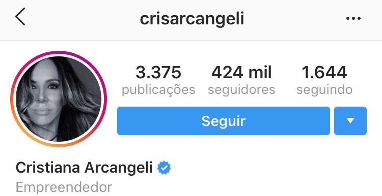 Nome de usuário Cris Arcangeli