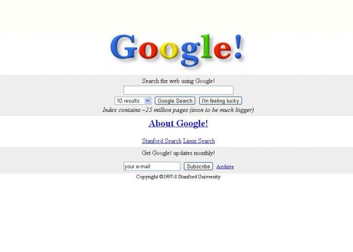 Experiência do usuário primeiro layout do google