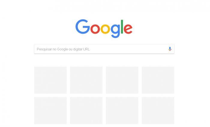 Experiência do usuário último layout google