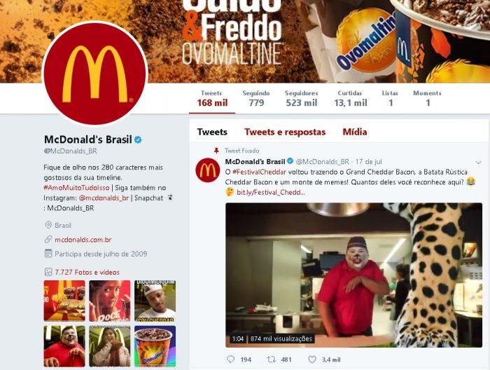 Como Conseguir Seguidores no Twitter McDonalds