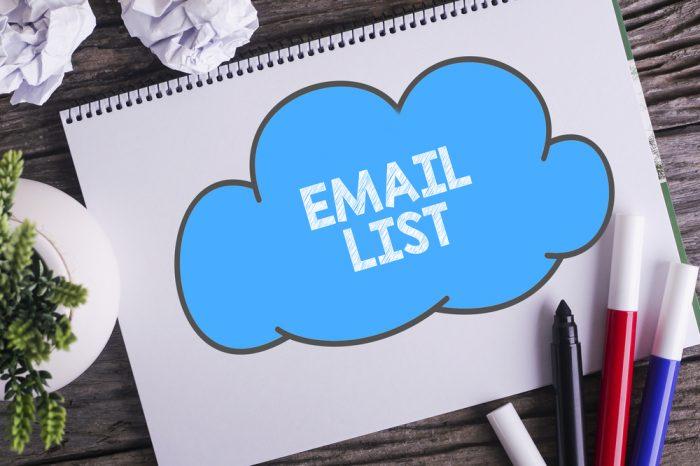 O que é uma lista de emails?