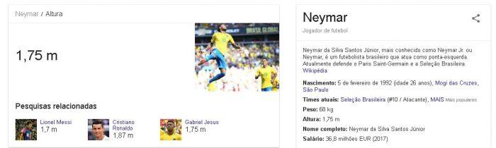 O que é semântica altura Neymar