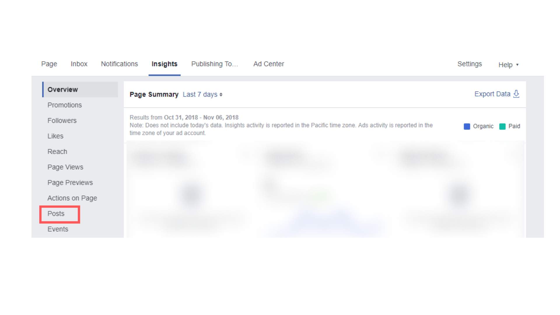 Como usar insights do facebook 2