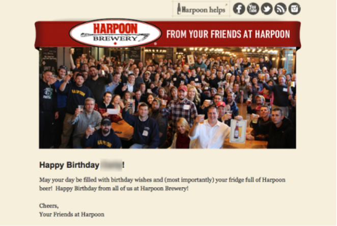 Email especial Harpoon