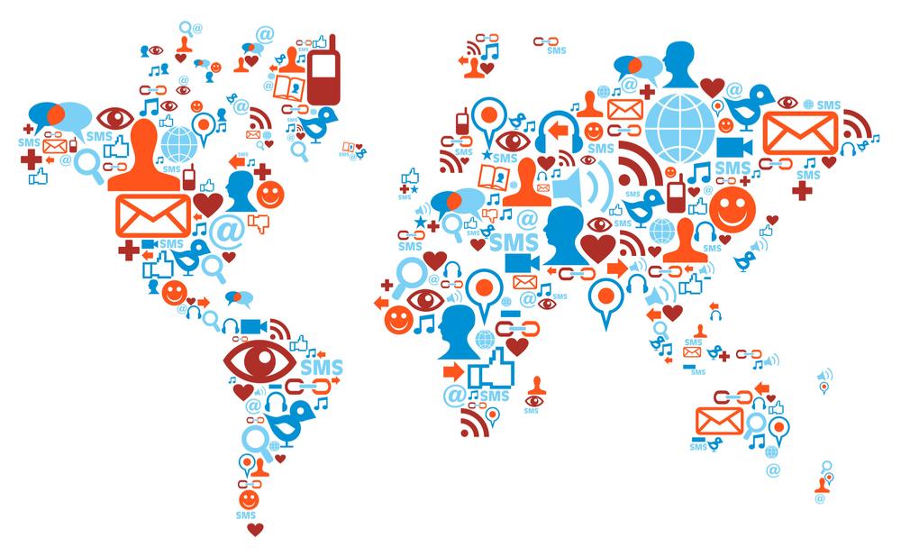 Principais redes sociais no mundo