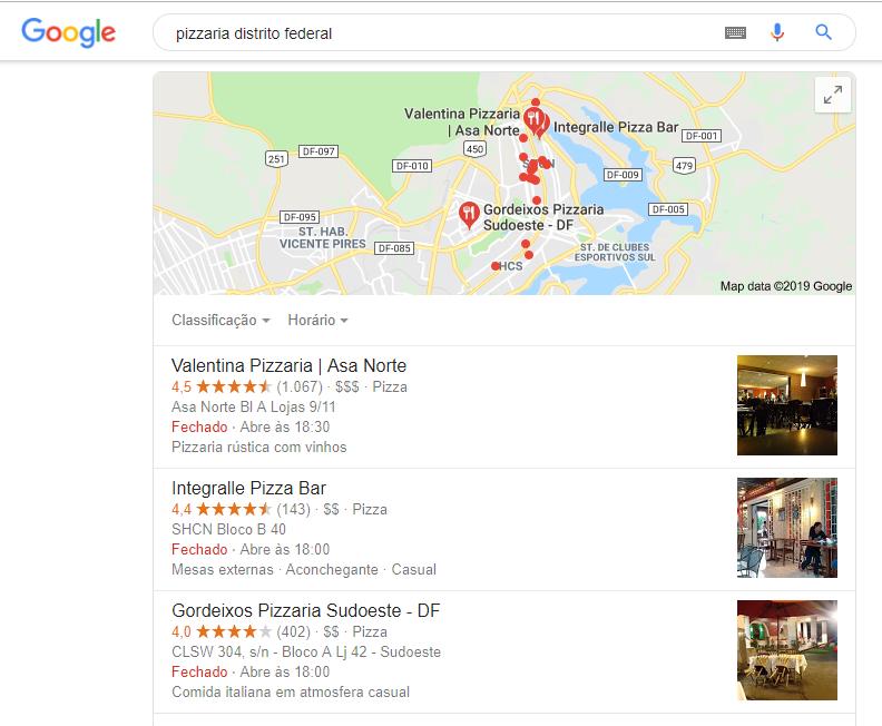 O que é o Google Meu Negócio? - Exemplo