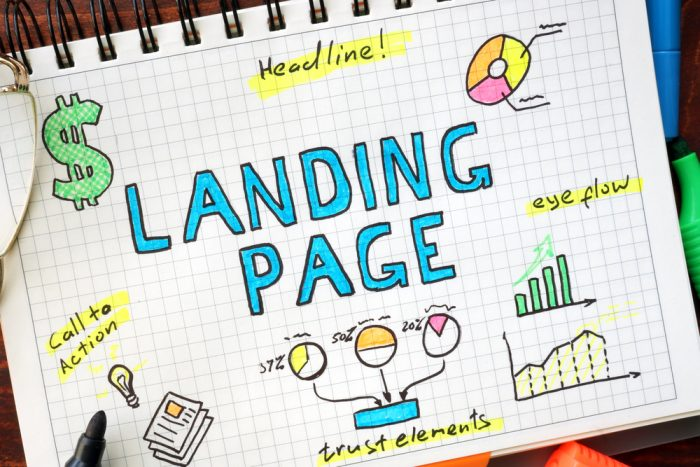 Use landing pages de alta conversão