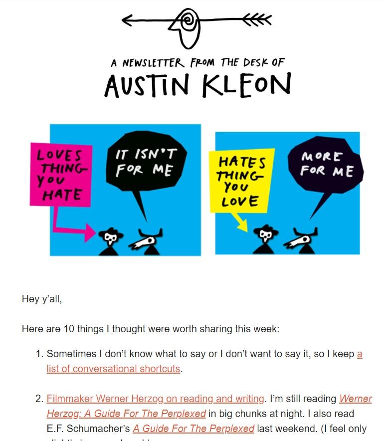 """Austin Kleon, autor do livro """"Roube como um Artista"""":"""