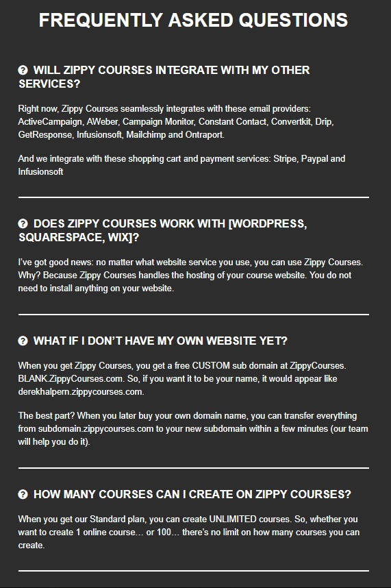 FAQ Zippy Courses