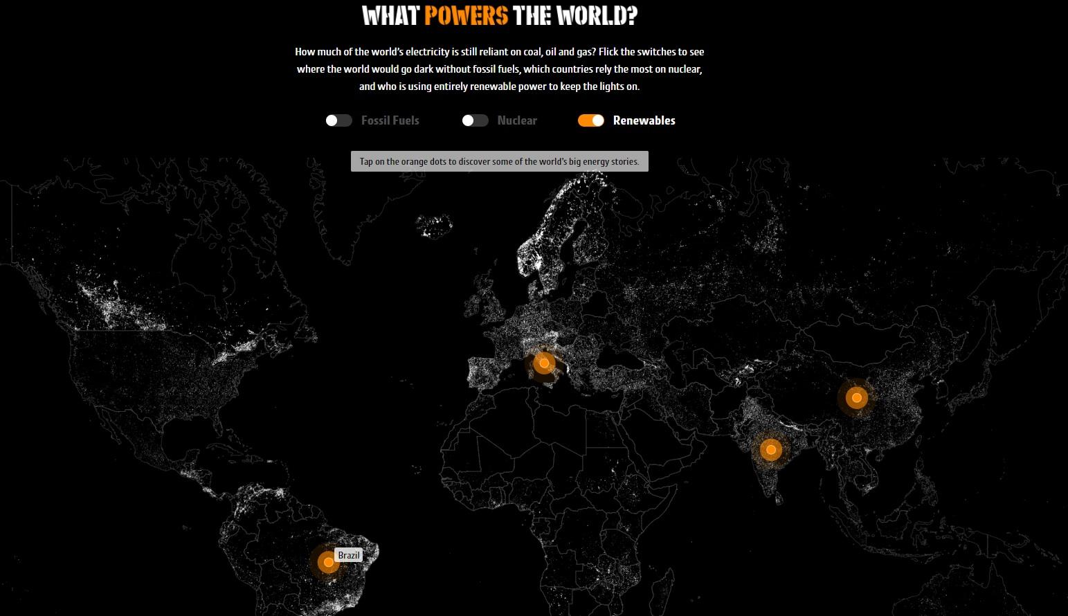 Mapa interativo GoCompare