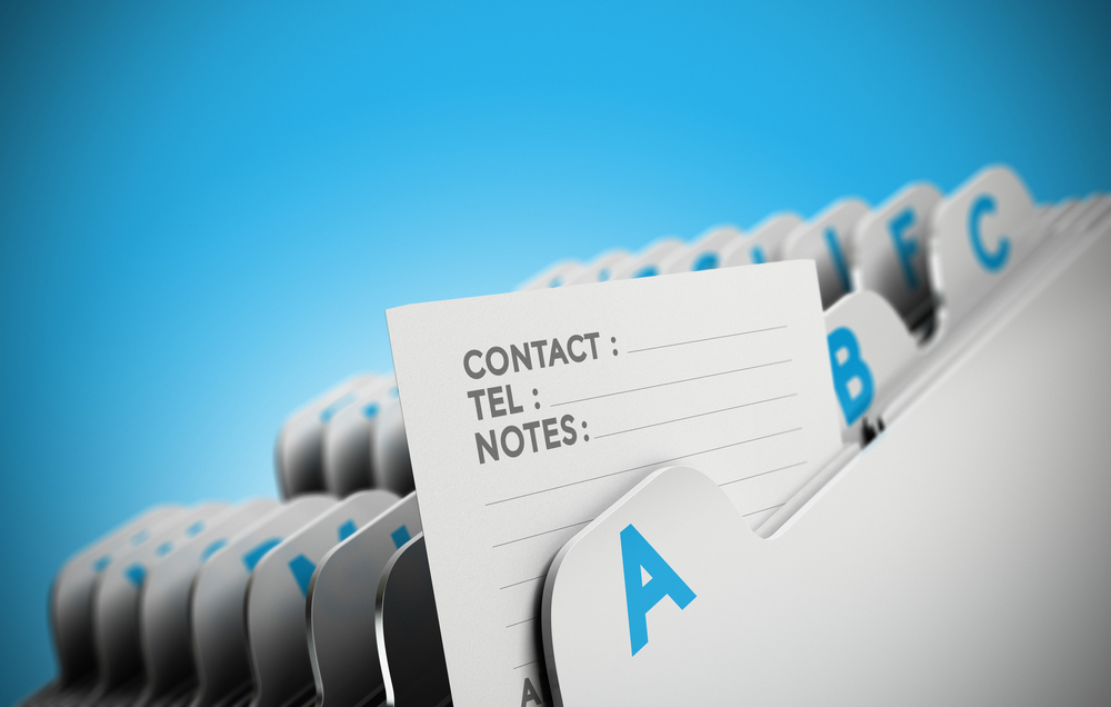 O que é uma lista de contatos?