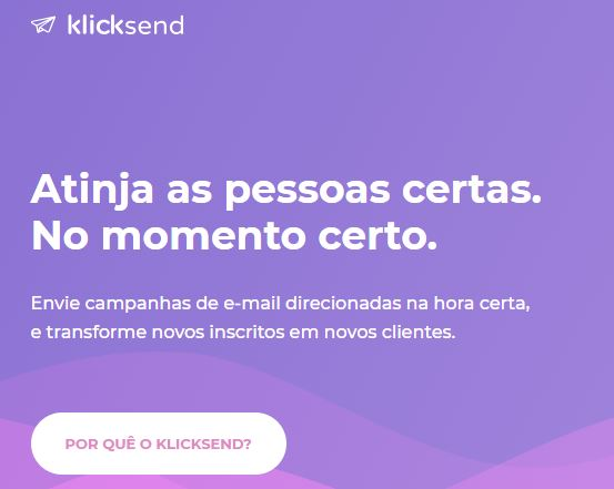 Ferramenta de email marketing: Klicksend